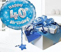 Happy 40th Birthday Balloon in a Box Code:JGF40BH40BBB