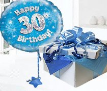 Happy 30th Birthday Balloon in a Box Code:JGFB30BH30BBB