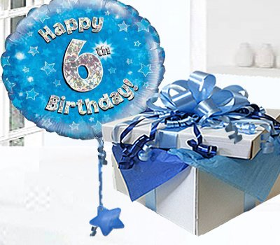 Happy 6th Birthday Balloon In A Box Blue CodeJGF6BH6BBB
