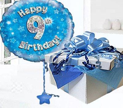 Happy 9th Birthday Balloon In A Box Blue CodeJGF9BH9BBB 9