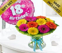 18th Birthday Germini Perfect Gift with a Fun Happy 18th Birthday Day Balloon Code: JGF1818GPGB