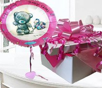 Baby Girl Balloon in a Box Code:JGF1NBGBIB