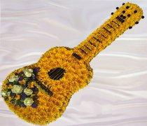 Guitar Funeral Flower Tribute Code:JGF0098YG