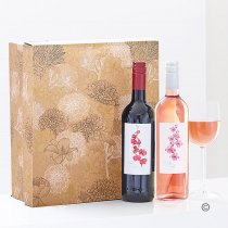 Merlot Wine and Cabernet Rosé Wine Duo Gift Set Box Code: JGF 0147RRWPB
