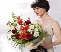 Dramatic Red Presentation Bouquet Code: P16051MS