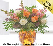 Captivating Amber Vase Code: A72741MS