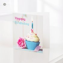 Happy Birthday Cupcake Greetings Card  Code: C05691ZF