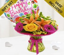 Happy Birthday Vibrant Perfect Gift with a fun Happy Birthday Balloon Code:JGF33VPGHB