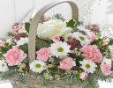 Arctic Beauty Flower Basket Code:JGFX80111MS