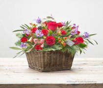 Cosy Crimson Basket Code: X89701MS | National and Local Delivery