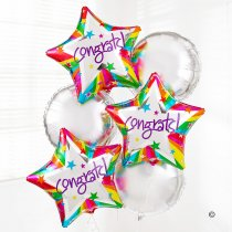 Congratulations Balloon Bouquet Code: C02451ZF  | Local Delivery Only