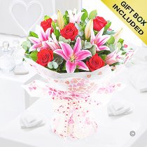 Rose and Lily Hand-tied Code: JGFV20072RL | Local Delivery Only