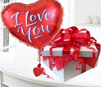I Love You Red Heart Helium Balloon in a box Code:JGFV88856ILHB