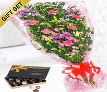 Gift Wrap Bouquet with Luxury Belgian Chocolates. Code: JGF41538PGWC