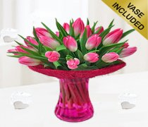 Pink Tulip Vase Code: JGFP58PTV | Local Delivery Only