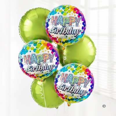 Happy Birthday Balloon Bouquet Green Code: JGFC02431ZF | Local Delivery Only