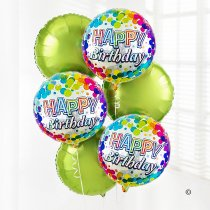 Happy Birthday Balloon Bouquet Green Code: C02431ZF