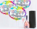 Happy Birthday Gift Set A Delicious Celebrationry Sparkling Rosé Wine With Happy Birthday Balloons Code: JGFB3SWBGS