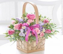 Happy Birthday Scented Pink and Lilac Basket Arrangement  Code: C10721PS