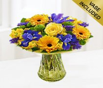 Spring Flower Gift Vase Code: JGFS2981SPV | Local Delivery Only