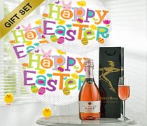 Happy Easter Balloon Sparkling Rosé Wine Gift Set Code: JGFE8SRWEBGS