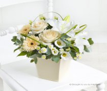 Cream Exquisite Sympathy Arrangement Code: C00291CS  | Local Delivery Or Collect From Shop Only