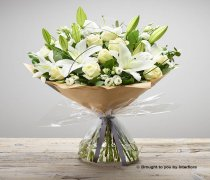 Large White Hand-tied Code: C00312WS