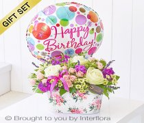 Happy Birthday Summer Memories Tin with Happy Birthday Balloon Code: H64221MB  | National and Local Delivery