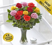 Elegant Mixed Rose Vase Code: V40101VS
