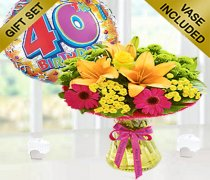 Happy Birthday Vibrant Perfect Gift with a fun Happy 40th Birthday Balloon Code:JGF3403VPGHB