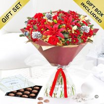 Christmas Cracker Hand-tied with Milk Chocolate Truffles Code: JGFX80051RST