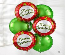 Merry Christmas Balloon Bouquet Green Code: X82481ZS