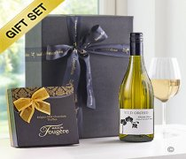 White Wine & Milk Chocolate Truffle Gift Set Code: JGFG83512WT