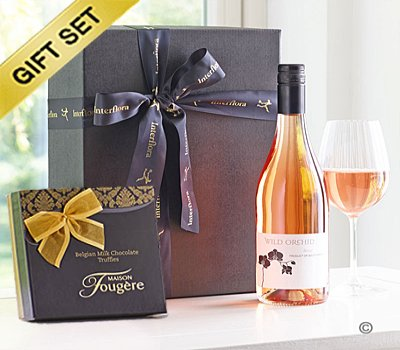 Rosé Wine & Milk Chocolate Truffle Gift Set Code: JGFG83992RT Local Delivery Only