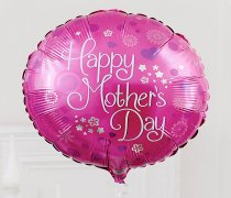 Mother's Day Fun Pink Round Shaped Helium Happy Mother's Day Balloon Code: M50081ZF