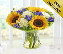 Sunflower Breeze Vase Code: JGFS398562SPG  | Local Delivery Only