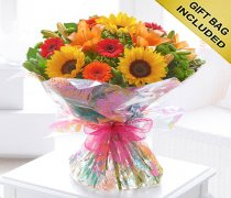 Seasonal Splendour Sunflower and Lily Hand-tied Hand-tied Code: H63090MS