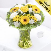 Cheerful Sunshine Vase Code: JGF8089YW  | Local Delivery Only