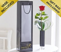 Single Kiss Red Rose Vase Code: C09761RS | Local Delivery Or Collect From Shop Only