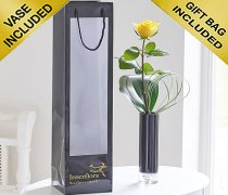 Single Kiss Yellow Rose Vase Code: C09761YS | Local Delivery Or Collect From Shop Only