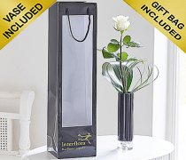 Single Kiss White Rose Vase Code: C09761WS | Local Delivery Or Collect From Shop Only