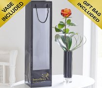 Single Kiss Orange Rose Vase Code: JGFC09761OS | Local Delivery Or Collect From Shop Only