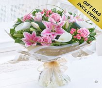 Pink Rose and Calla Lily Hand-tied Code: C09011PS