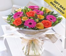 Vibrant Calla Lily, Rose and Gerbera Hand Tied Code: C09021VS