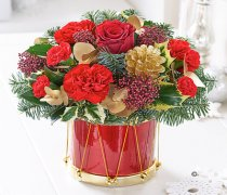 Christmas Festive Floral Drum Code: X82721RS