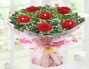 True Loves Desire 6 Red Rose Hand-tied With A Box Of Luxury Chocolates Code JGFV966RRWC | Local Delivery Only