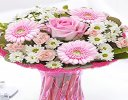 Cotton Candy Vase Arrangement Code: JGFC00281PS | Local Delivery Only