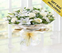White Wishful Hand-tied  Code: JGFW98750WS  | Local Delivery Or Collect From Shop Only