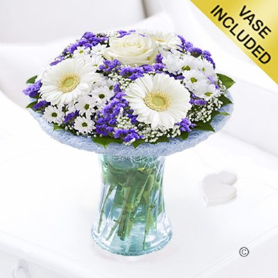 Azure Vase Code: JGFA928871BV | Local Delivery Only