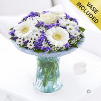 Azure Vase Code: JGFA928871BV | Local Delivery Or Collect From Shop Only